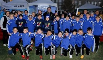 """Beachside Soccer Players at the """"Light the Night"""" walk for Leukemia Research"""