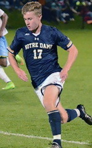 Jon Gallagher is Notre Dame's leading scorer this year for 2105-16